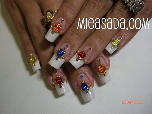 nail French exotic nail art designs with decorated nail art designs ...500 x - Nail French Exotic Nail Art Designs With Decorated Nail Art