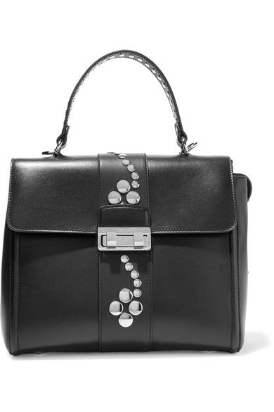Lanvin Jiji Small Studded Leather Shoulder Bag Black One Size