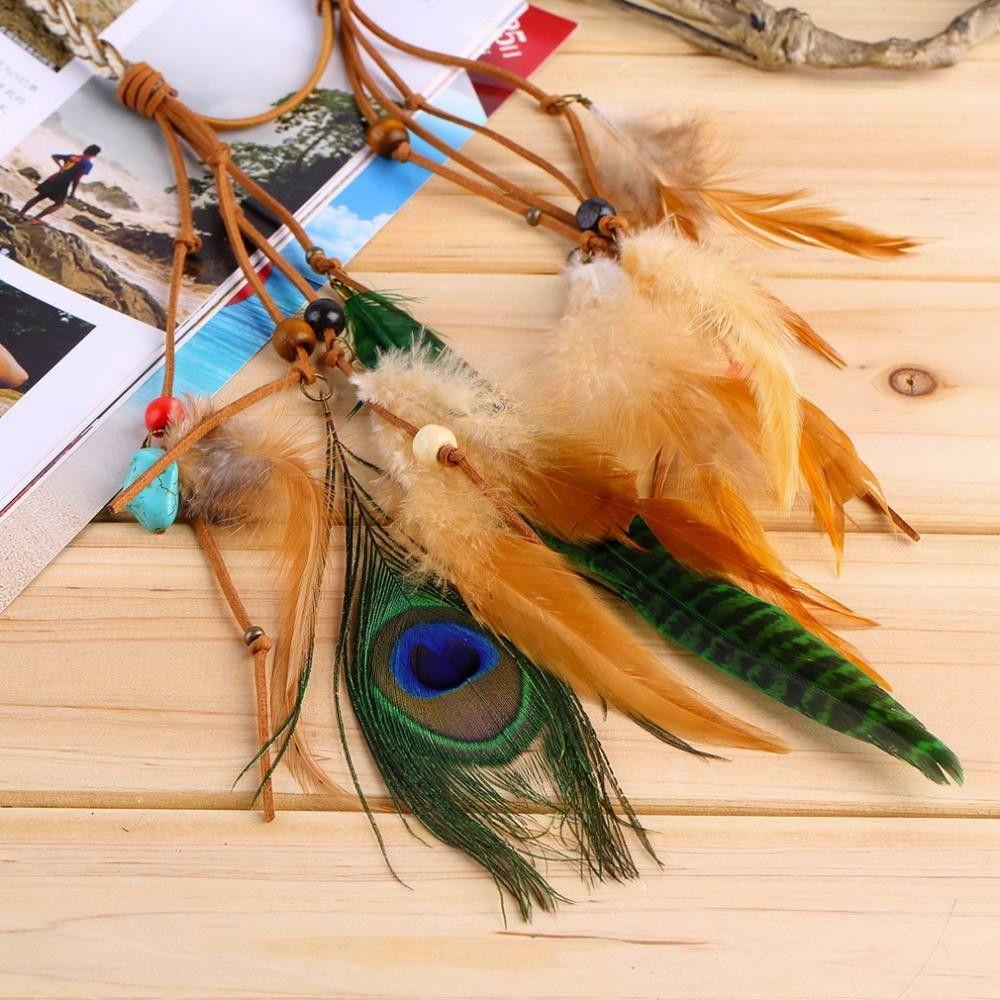 Hotfashion festival feather headband hippie headdress hair