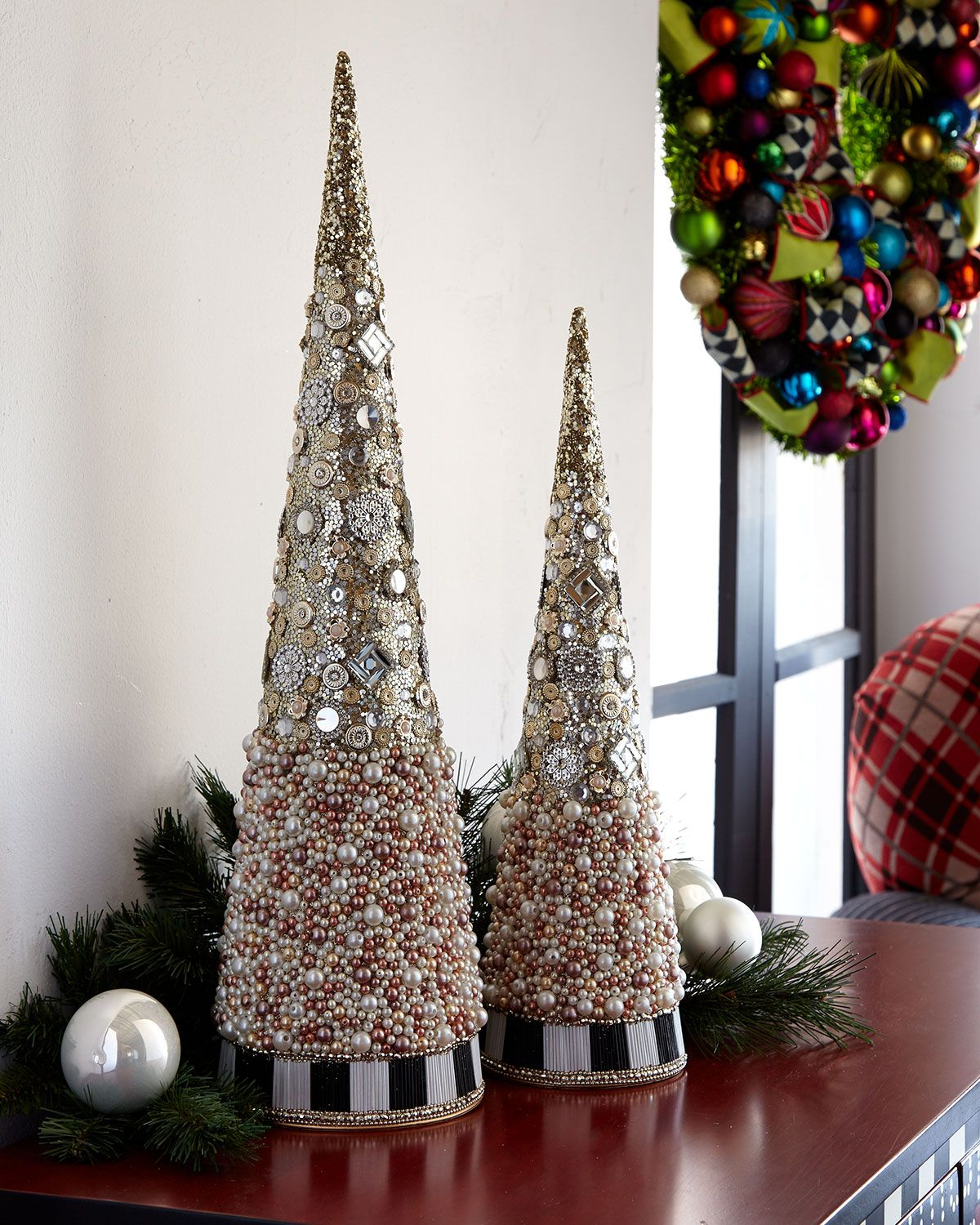 Silver Lining Beaded Small Tabletop Christmas Tree | Products ...
