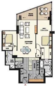Meriton World Tower Apartments Hotel Sydney Serviced Apartments Tower Apartment 2 Bedroom Apartment Floor Plan Floor Plans