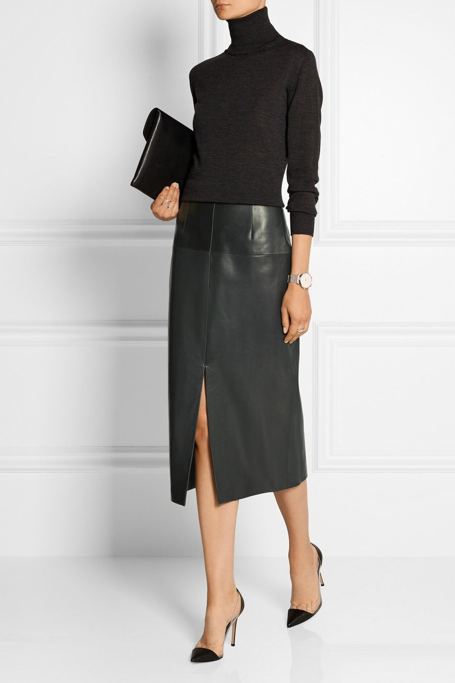 JASON WU Leather pencil skirt $2,695.00