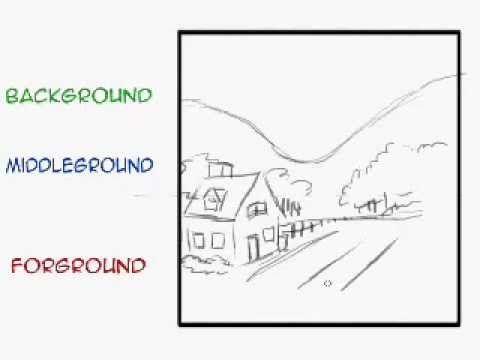 Fourground Background Middleground Youtube Art Lessons Elementary Art Lesson Plans Homeschool Art