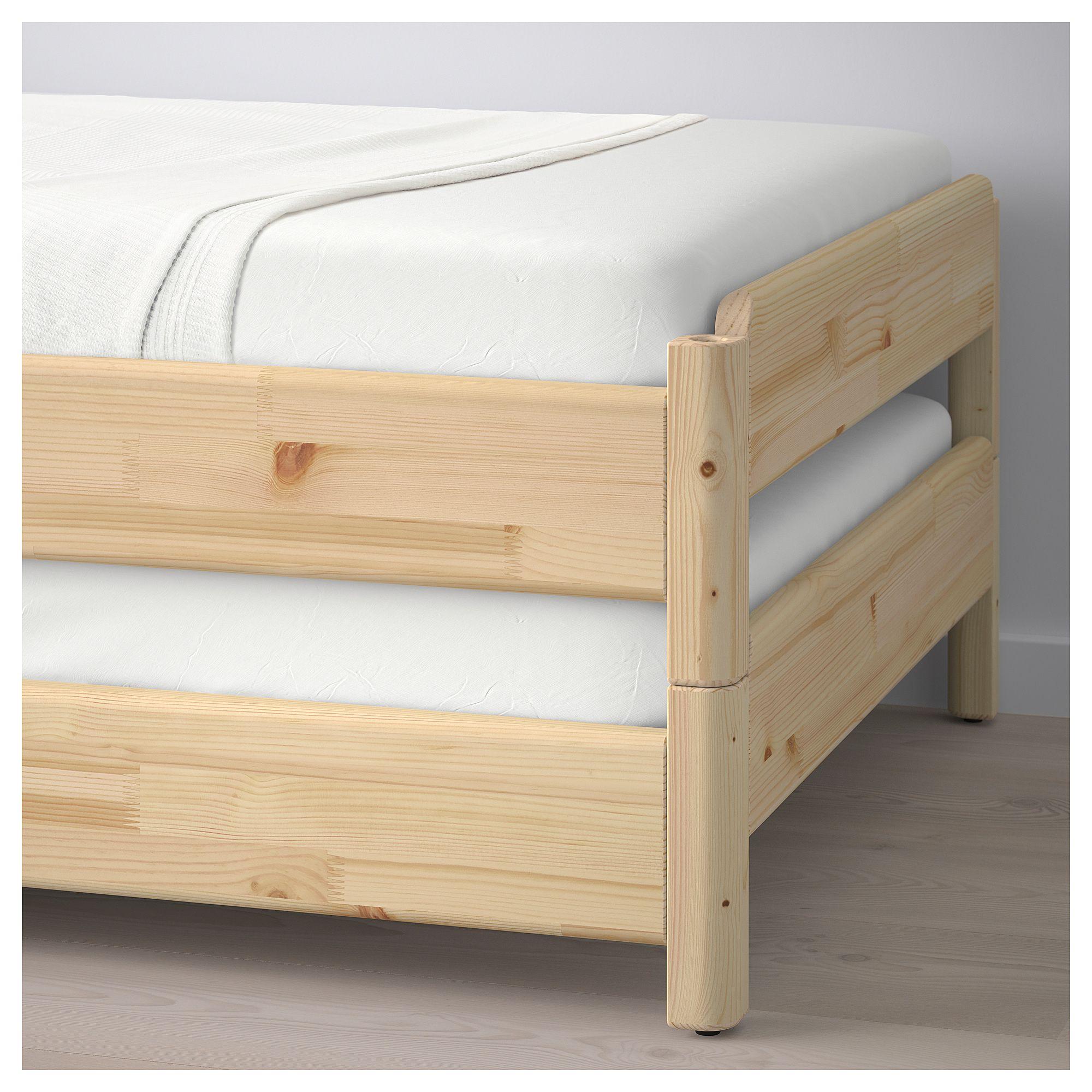 Ikea Ut 197 Ker Stackable Bed With 2 Mattresses Pine