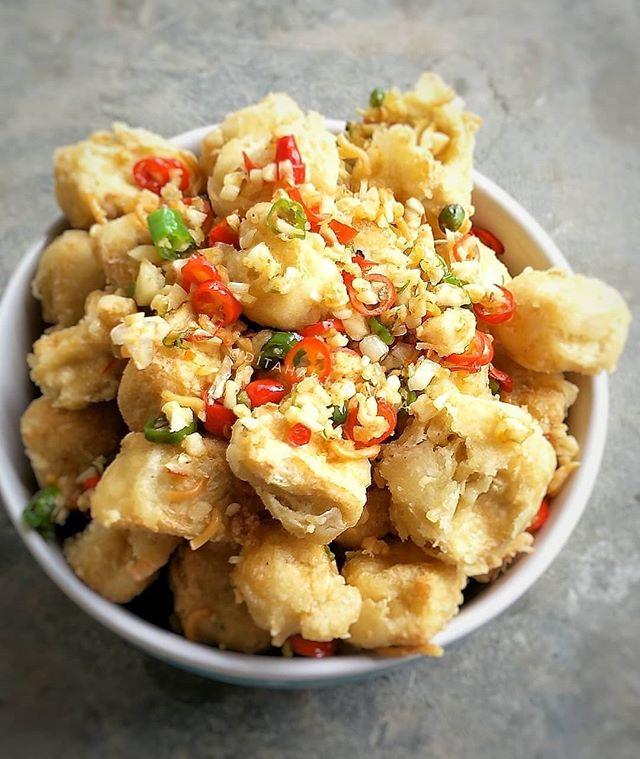 Doyan Cooking Di Instagram Tahu Cabe Garam By Ditaharjawinata Memasak Resep Resep Masakan