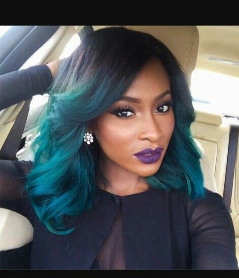 Ombre Blueish Green Slayed Hair Forever Hair Hair Styles Short