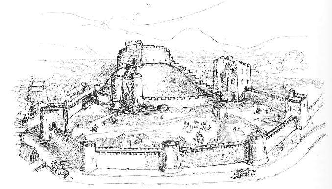 Crickhowell Castle wales.reconstruction More ruinous is