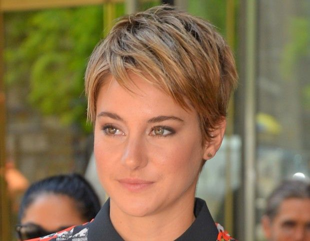 U Cut Hairstyle For Short Hair: Shailene Woodley Pixie Cut