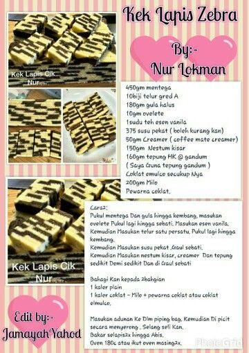 Lapis Zebra Cake Receipe Yummy Cookies Resep Cake