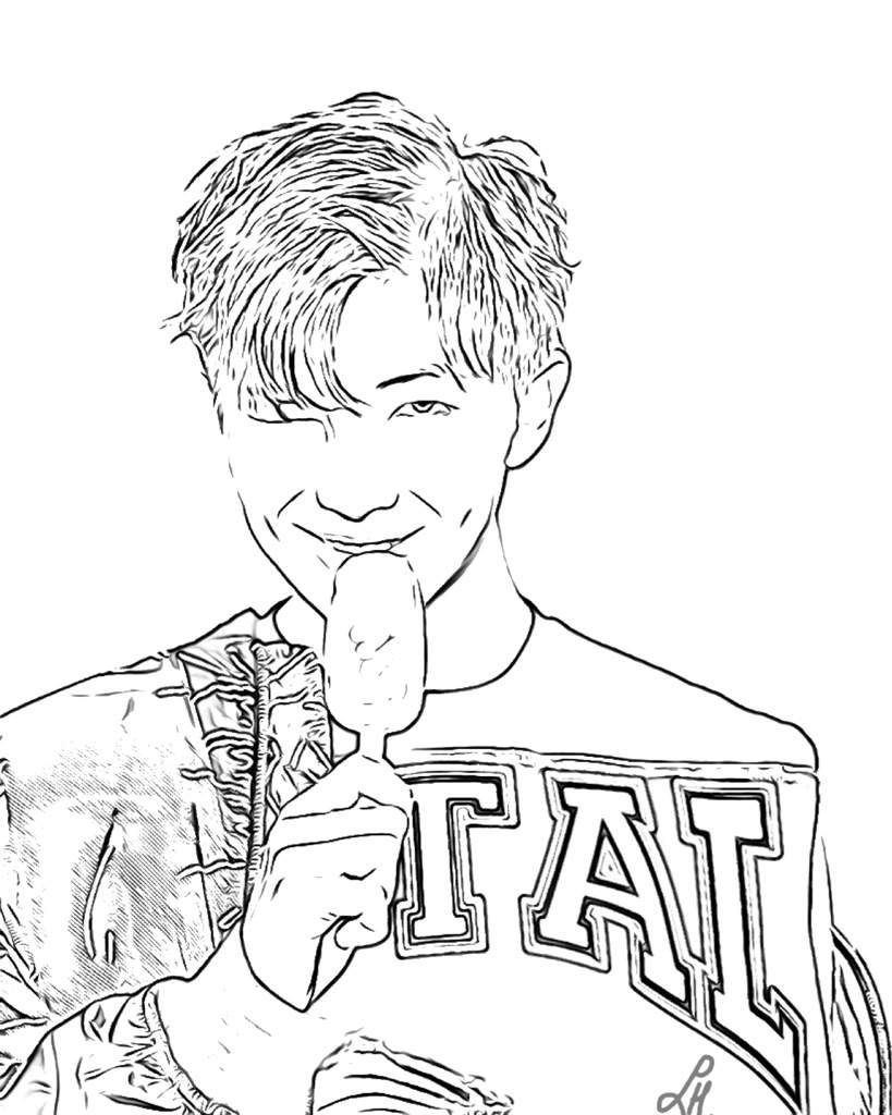 Bts Coloring Sheet Coloring Pages Dog Coloring Page