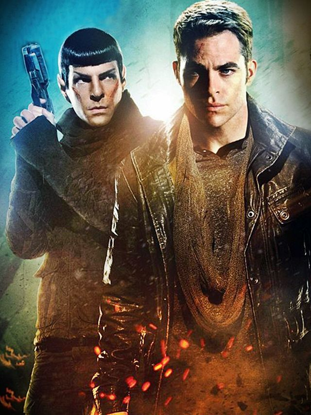 Kirk and Spock have gone a bit grunge. Totally works.