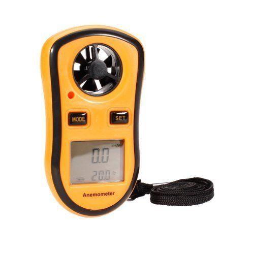 Anémomètre – Numérique Vent Vitesse Mesure de température Jauge de mesure de vitesse Anémomètre / Air – Outil Idéal pour planche à voile,…