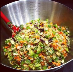 Cranberry Cilantro Lime Quinoa Salad- perfect filling work-day lunch!!