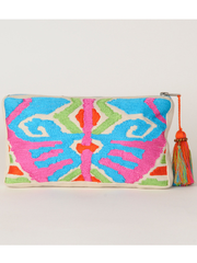 Embroidered Pouch: Multi colored from Krickette on Taigan