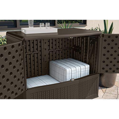 Suncast Backyard Oasis Storage U0026 Entertaining Station