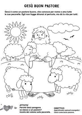 L 39 angolo colora la bibbia ges il buon pastore - Artigianato per cristiani ...