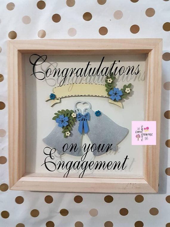 Personalised Engagement Frame bridal shower gift Engagement Gift for ...