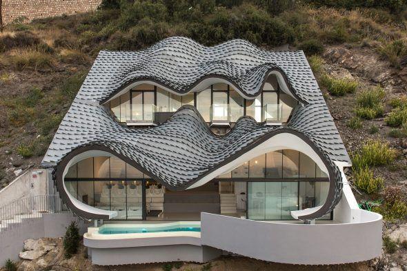 Extrêmement Cliff House GilBartolome Architecture maison enterrée montagne  NR13
