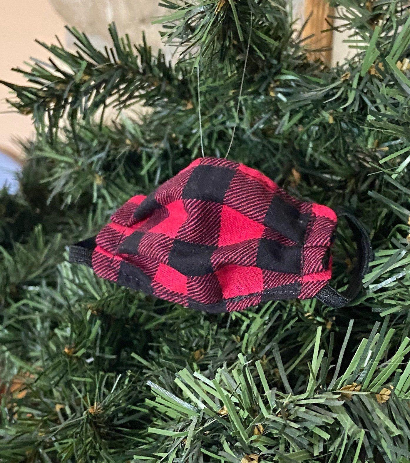 Mini Mask Ornament Buffalo Plaid Christmas Ornament 2020 Etsy In 2020 Diy Christmas Ornaments Fabric Christmas Ornaments Diy Christmas Ornaments Easy