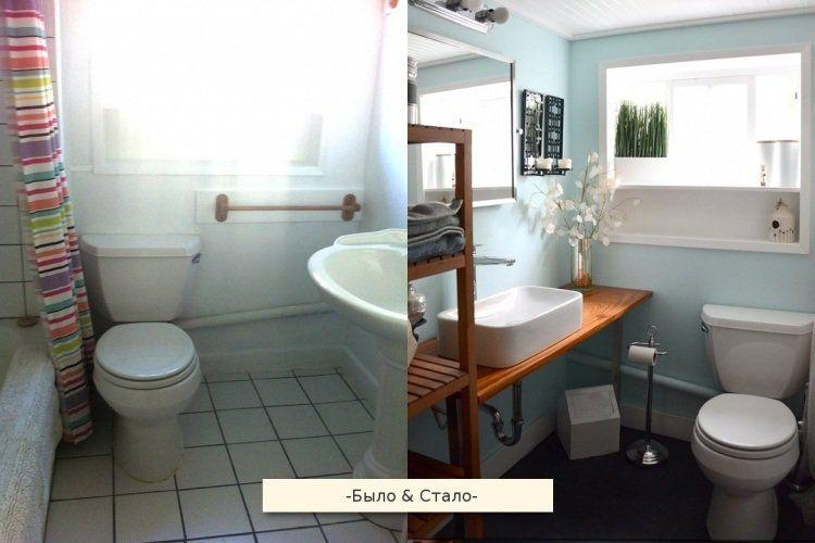 Rénovation salle de bains- idées et photos avant et après! Pinterest - peindre le carrelage sol