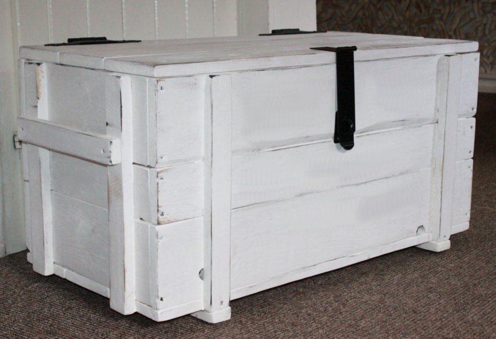 Shabby Vintage Truhe Couchtisch Holzkiste Kiste Sofatisch Wohnzimmer Sitztruhe In 2020 Holzkisten Sitztruhe Und Shabby Vintage