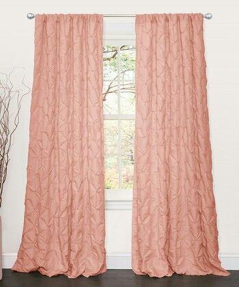ستاره خربزي ناعمه Lush Decor Curtain Single Panel Shabby Chic Curtains