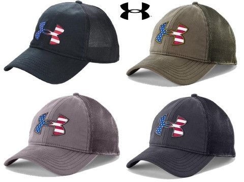 Under Armour Mens Big USA Flag Logo Cap - UA Snapback American Flag  Baseball Hat c65927662b8