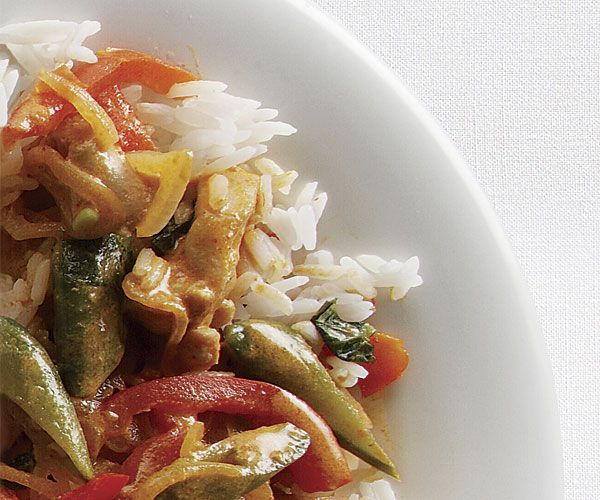 Thai red curry with chicken vegetables recipe thai red curry thai red curry with chicken and vegetables recipe forumfinder Gallery