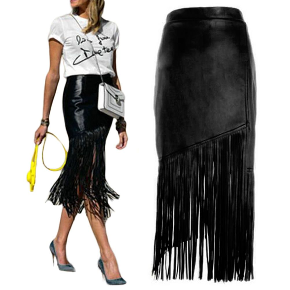 black fringe diy leather skirt - Google Search   THAT...is Twisted ...