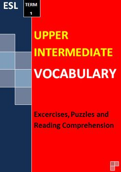 Upper Intermediate ESL English Vocabulary Puzzles Worksheet ...