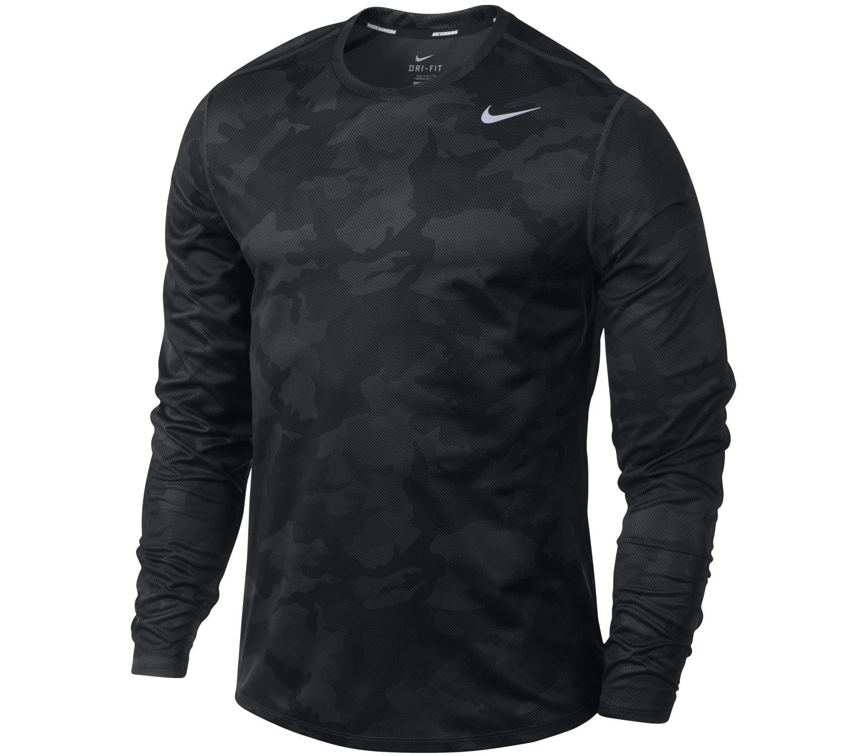 Nike - Running Shirt Men Sublimated LS Camo anthrazit