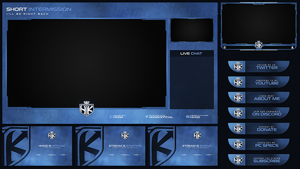 Twitch Livestream Designs Stream Packages Overlays On Behance Overlays Twitch Live Streaming