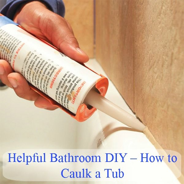 Do It Yourself Home Design: Bathroom DIY – How To Caulk A Tub