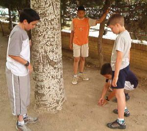 Juegos Tradicionales De Aragon Las Canicas O Jugar A Marro Aragon