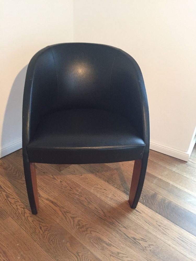 Details Zu Ligne Roset Designer Leder Sessel Schwarz Echtleder Stuhl