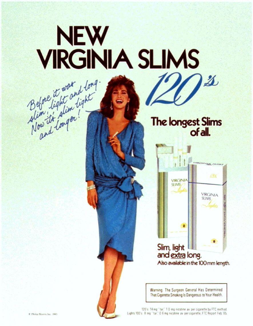 Pin On Virginia Slims Ads: Pin On Virginia Slims 120's Ladies