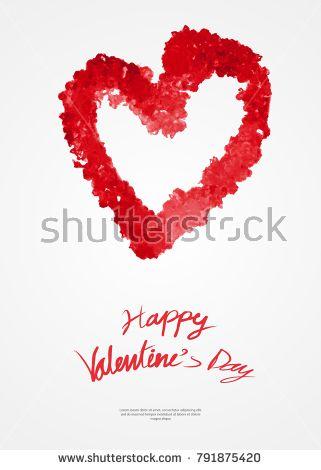 Valentine\u0027s day card template, greeting card layout, heart hand - greeting card template