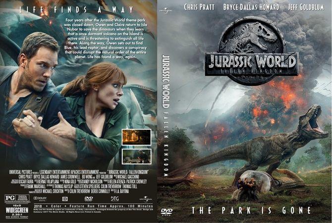 Jurassic World Fallen Kingdom 2018 Dvd Custom Cover Dvd Cover Design Jurassic World Mini Books