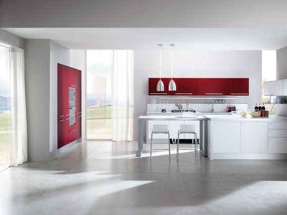 Cucina lineare con penisola k i t c h e n pinterest prezzo outlets and showroom - Cucina moderna con penisola ...