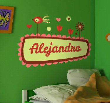 Personalize the name the your child in this beautiful sticker! #beautiful #wallsticker #decoration