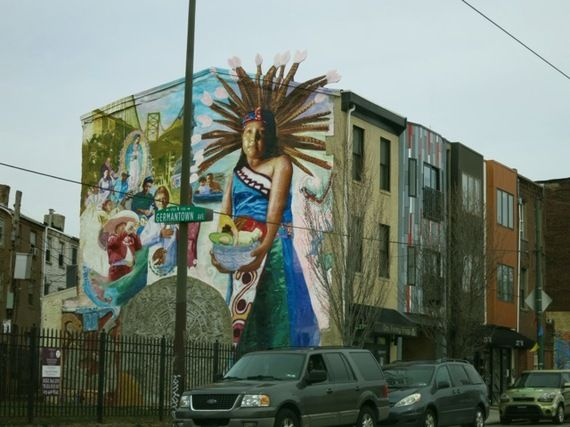 Philadelphia's Mural Arts Program started as a reeducation program for graffiti taggers and now boasts over 2,000 pieces of art printed onto the sides of area buildings.