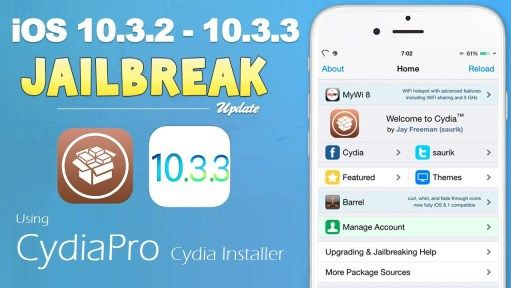 Jailbreak iOS 10.3.3 Best Utility to Download Cydia iOS