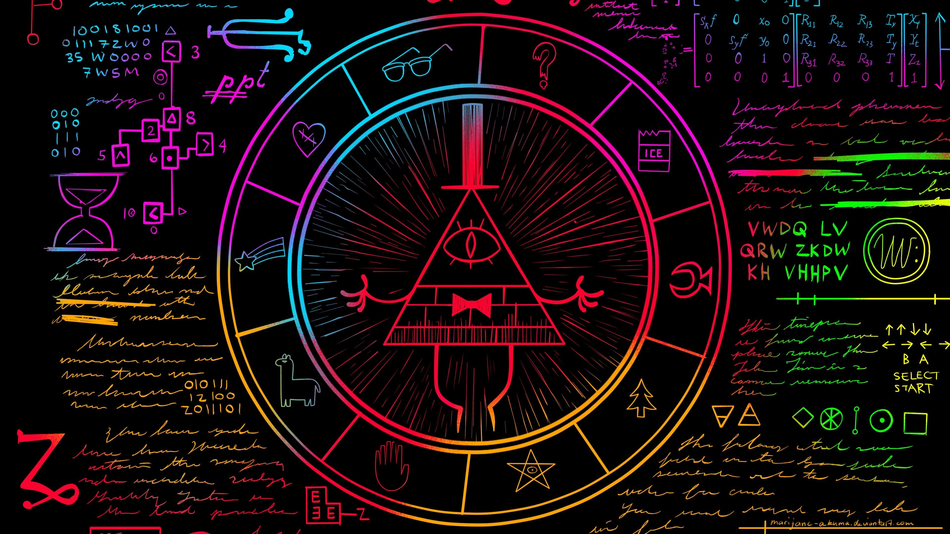 3840x2160 Weirdmageddon Part One Gravity Falls Bill Ciphers