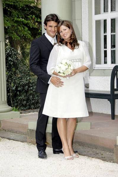 Celebrity Wedding Outfits Celebrity Wedding Dresses Mirka Federer Roger Federer