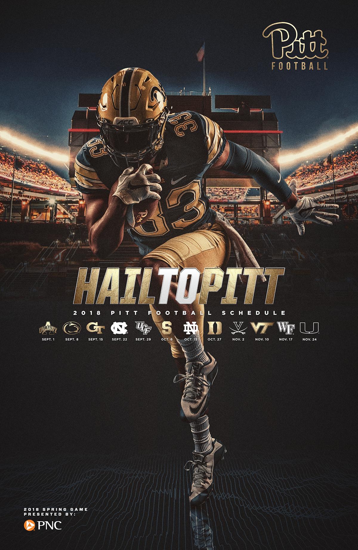 2018 Pitt Football Spring Game Poster on Behance Sports