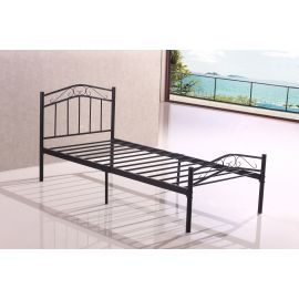 brand new sturdy 3ft black single metal heavy duty bed frame for adult children model a100045