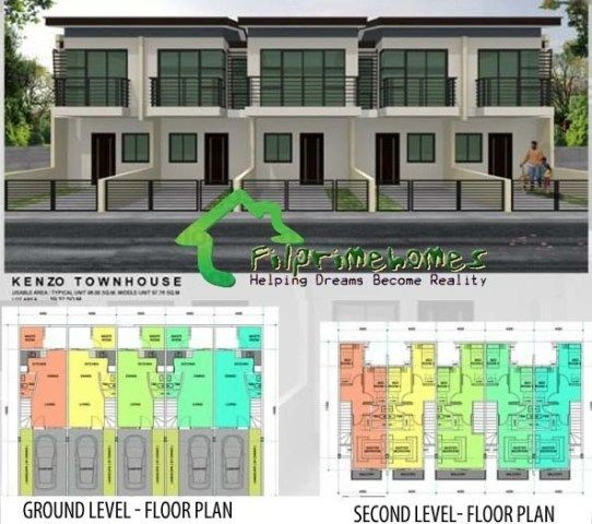 House and lot townhouse for sale las pi as metro manila for Apartment plans philippines
