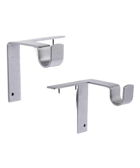 Single Curtain Rod Brackets With Images Curtain Rod Brackets