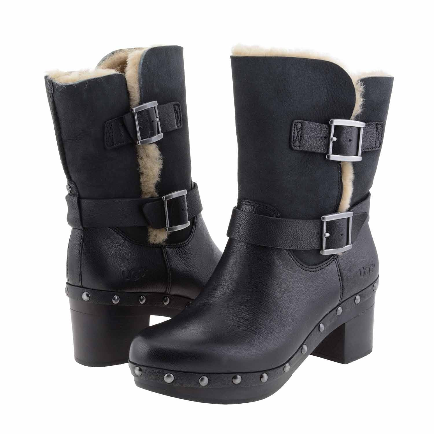 UGG Women Brea Black Boot 9 B M Made in USA or Imported