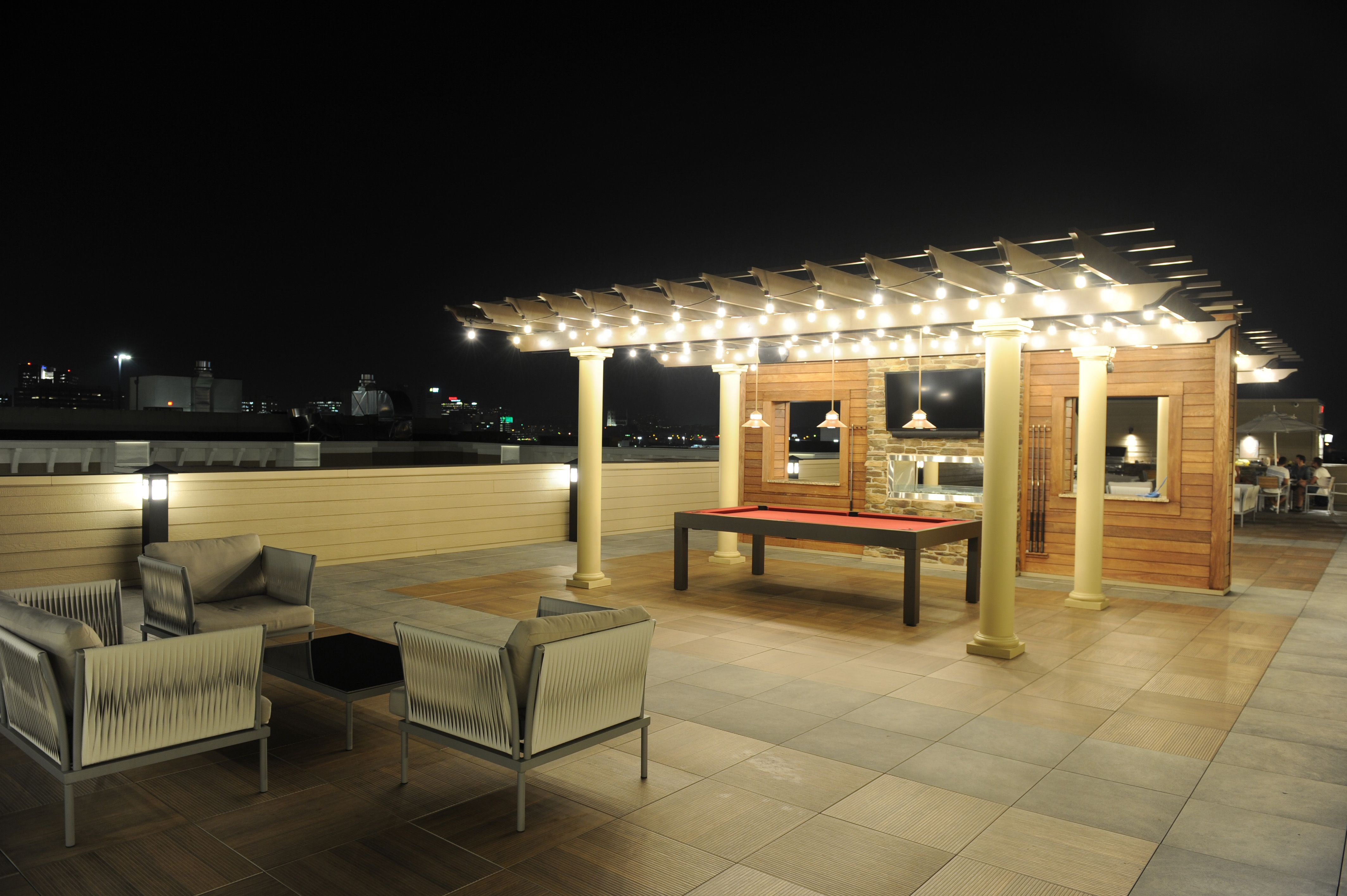 Vermella Harrison Roof Deck Robert Newell Lighting Design Lighting Design Newell Design